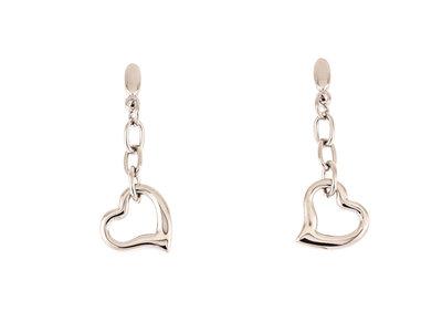 Boucles d'oreilles acier avec coeur ANGIE