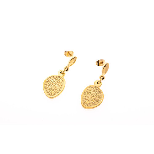 Boucles d'oreilles acier placage or jaune SUE