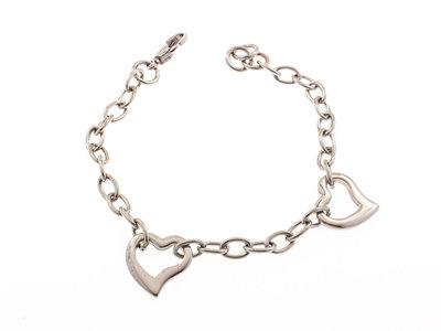 Bracelet acier avec coeurs TRACY
