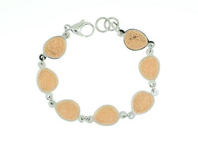 Edelstaal armband met rosé goud vergulding CHRISTINE