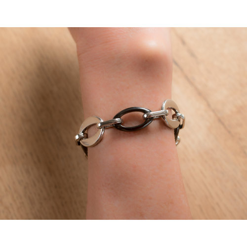 Bracelet acier avec céramique noire ARIANA