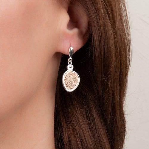 Edelstaal oorbellen deels verguld met rosé goud MAUD