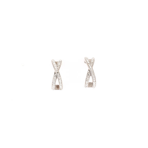 Boucles d'oreilles acier avec cristaux PENNY