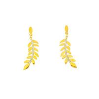 Boucles d'oreilles acier avec cristaux et placage or jaune JUSTINE