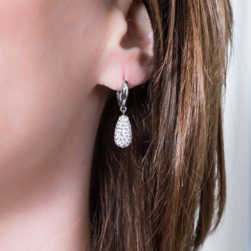 Edelstaal oorbellen met kristallen ALICE