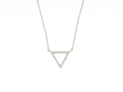Collier pendentif argent avec zirconiums BRIANNA
