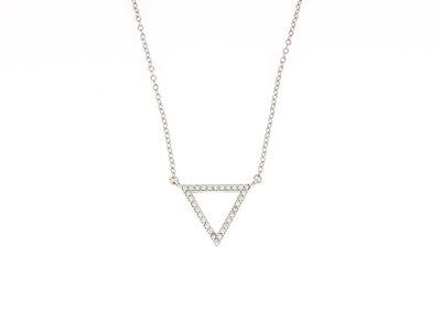 Zilver collier met hanger met zirconia BRIANNA