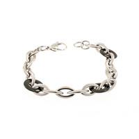 Bracelet acier avec éléments noirs YSABEL