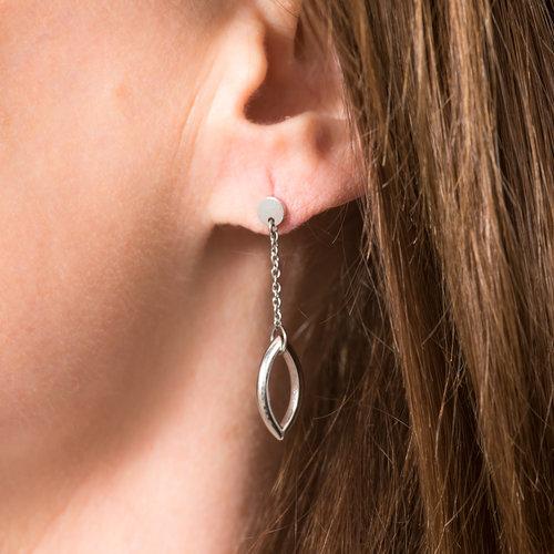 Boucles d'oreilles acier modèle AMY