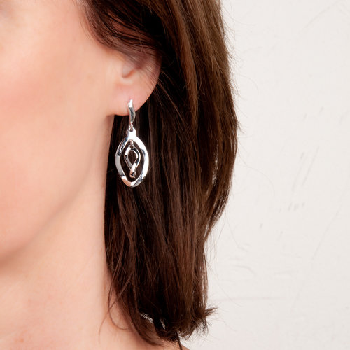 Boucles d'oreilles argent rhodié NADIA