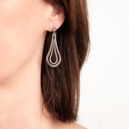 Boucles d'oreilles acier LORI