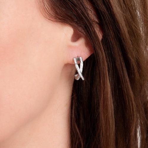 Edelstaal oorbellen met kristallen PENNY