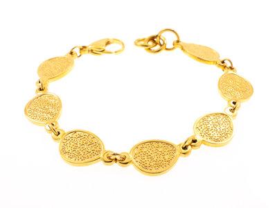 Bracelet acier avec placage or jaune TAYLOR