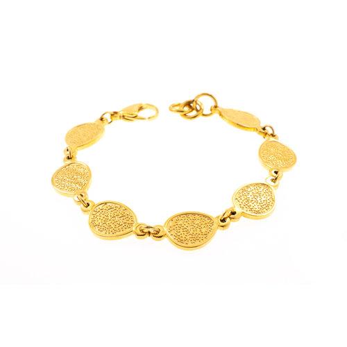 Edelstaal armband verguld met geel goud TAYLOR