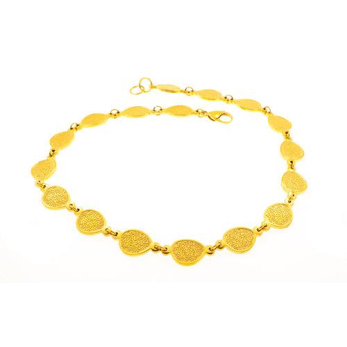 Collier acier avec placage or jaune TAYLOR