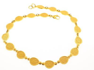 Edelstaal halsketting verguld met geel goud TAYLOR