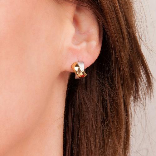Plaqué bicolor oorbellen TERESA