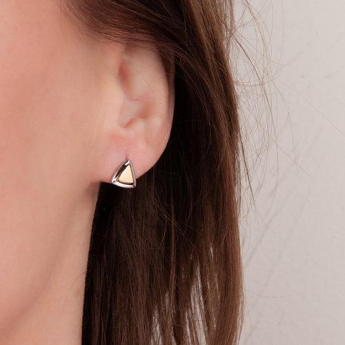 Kleine oorbellen in plaqué bicolor AVA
