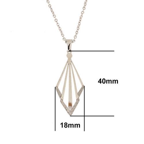 Edelstaal hanger met ketting BEATA