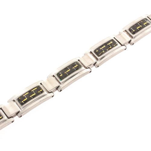 Bracelet avec carbone pour hommes JUSTIN