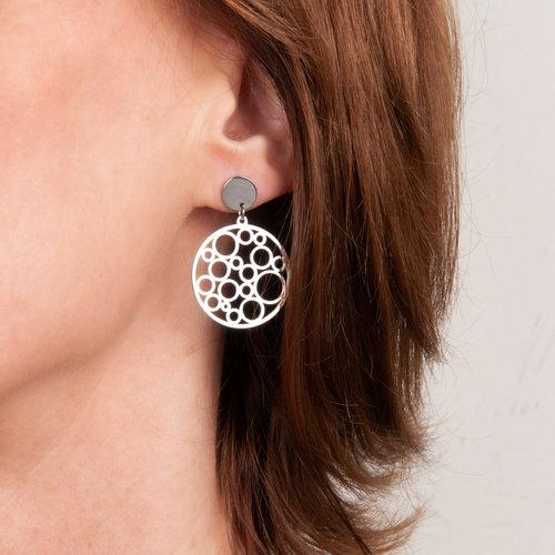 Boucles d'oreilles acier JADE