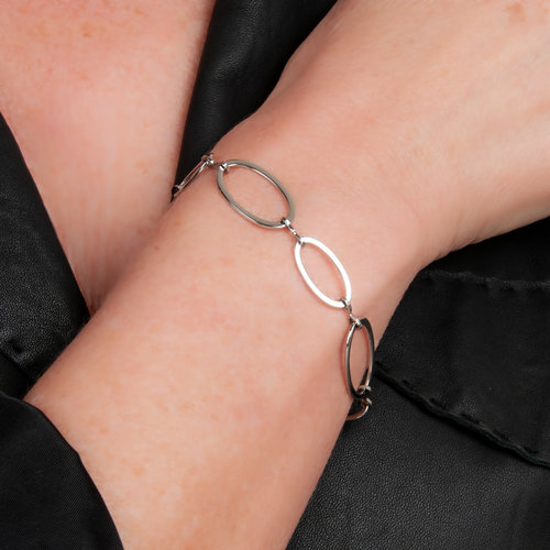 Edelstaal armband fijn model SANDRA