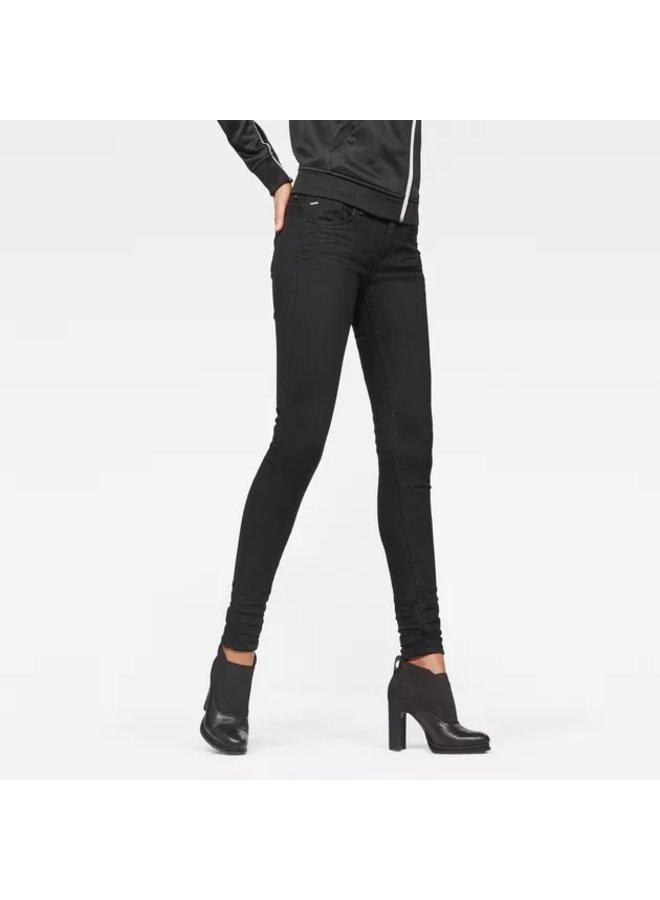 Lynn D-Mid Waist Super Skinny Jeans  D06333 9142 - 082 Black