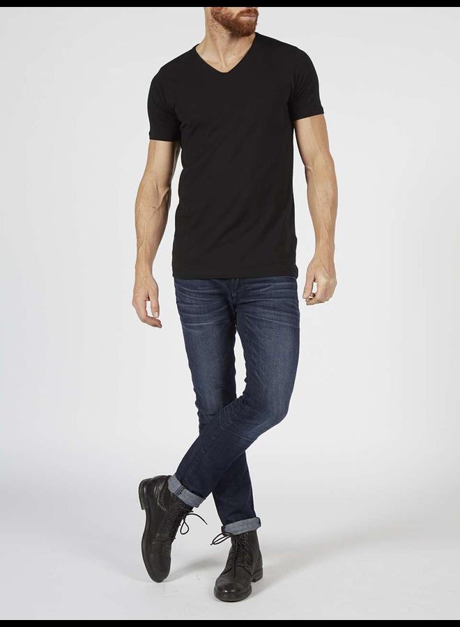 2-pack basic T-Shirt V-hals - 9999 Black