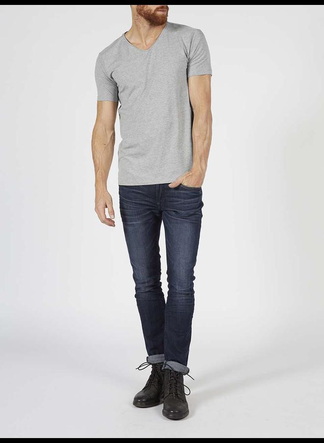 2-pack T-Shirt V-hals - 9038 Light Grey Melee