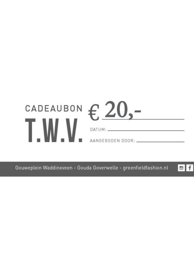 Cadeaubon €20,-