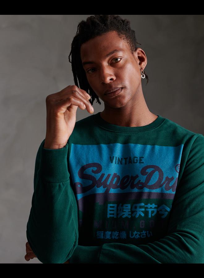 Superdry Sweater M2010213A - GCI Pine Green