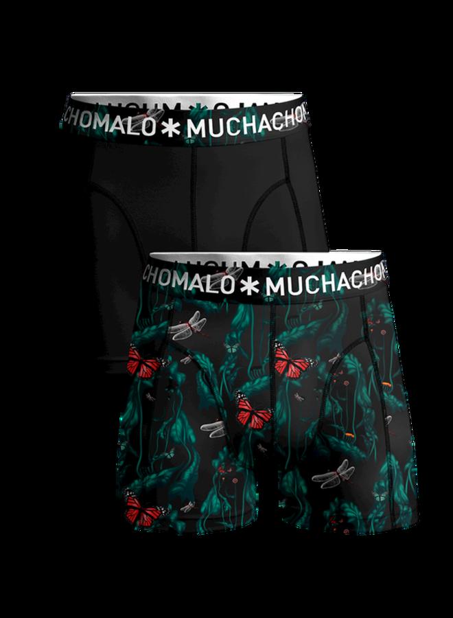 Boxershort WOPTI1010-01 Men 2-Pack - Print/Black