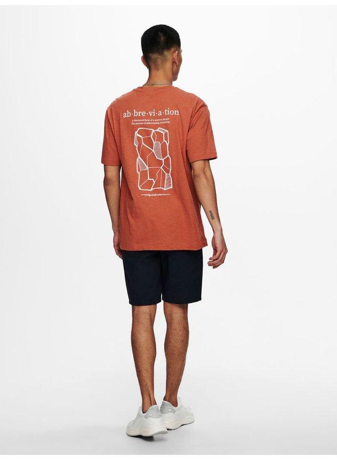 Only & Sons T-Shirt 22019319 - Auburn