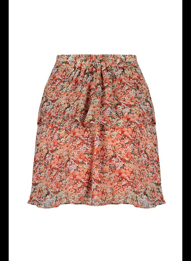 Lofty Manner Rok MI99.1 Skirt Alita - White Peach