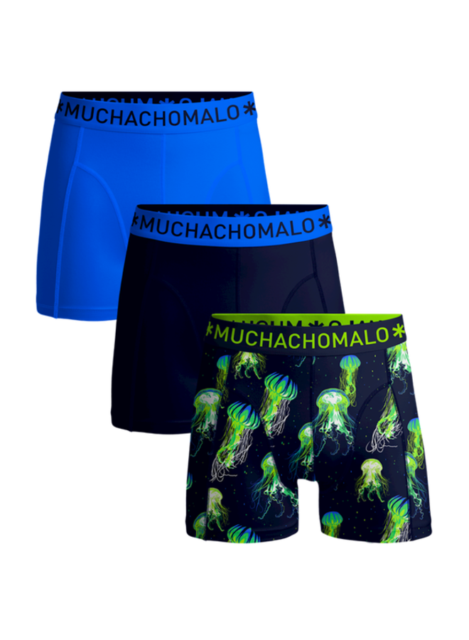 Muchachomalo Boxershort 3-pack JELLYVS1010-01U - Print/Navy/Blue
