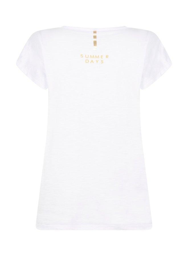 Zoso T-shirt 214Ray - 0016/0250 White/Summergold