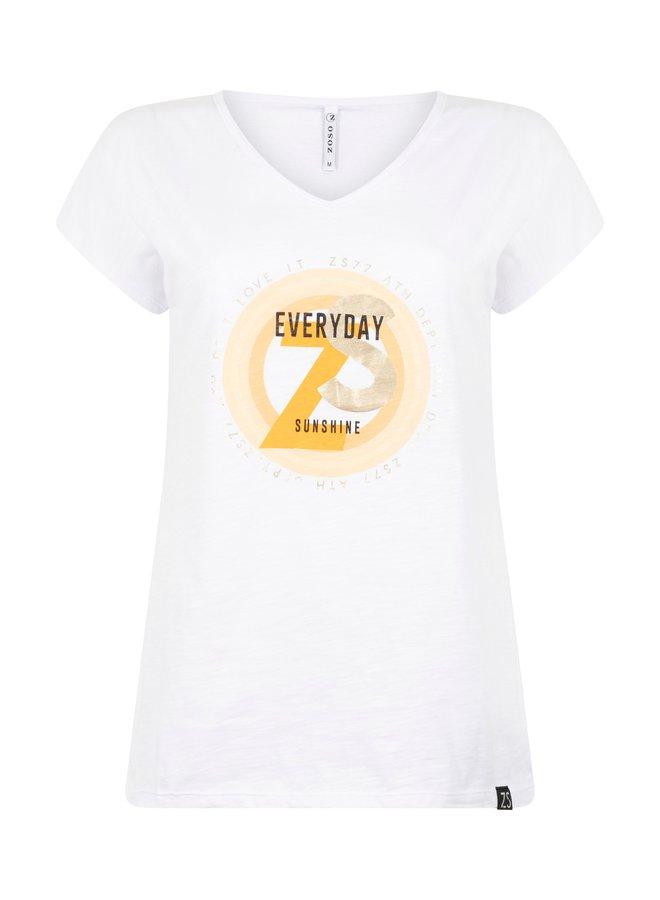 T-shirt 214Ray - 0016/0250 White/Summergold
