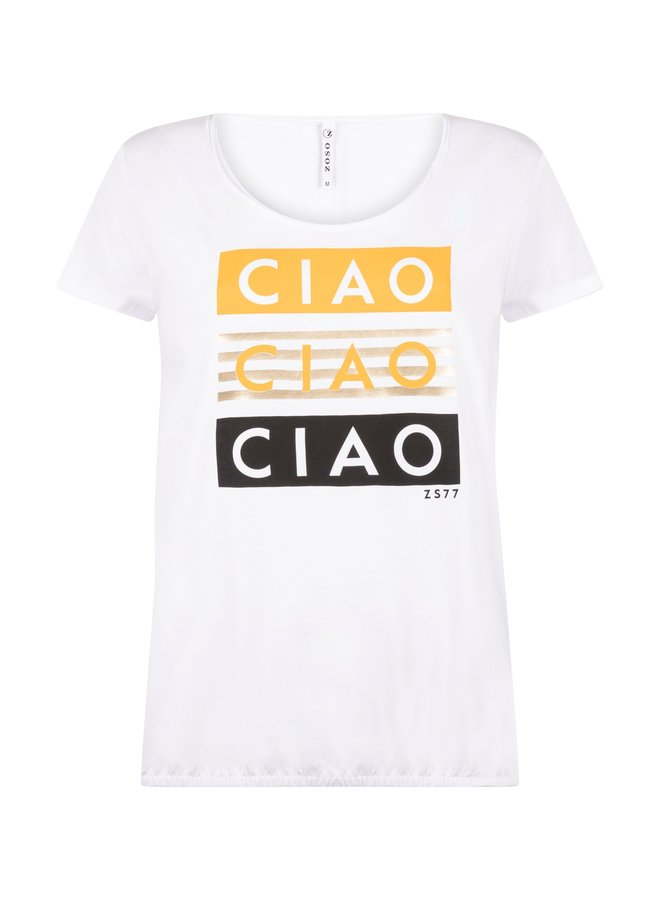 Zoso T-shirt  214Ciao - 0016/0250 White/Summergold