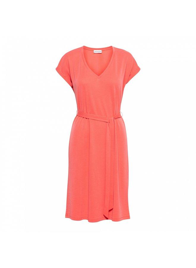 Jurk 14SS-DR153-FS Mette Dress - Flamingo