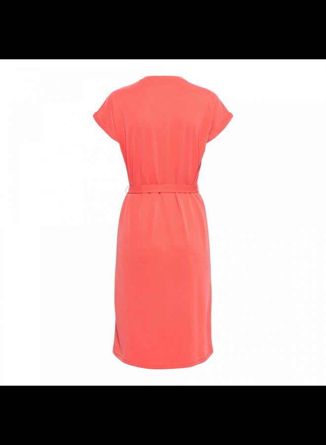 &Co Woman Jurk 14SS-DR153-FS Mette Dress - Flamingo