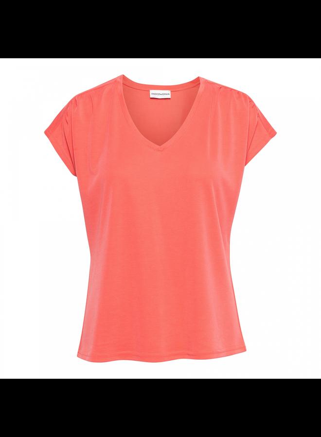 &Co Woman T-shirt14SS-TO137-FS Mette Top - Flamingo