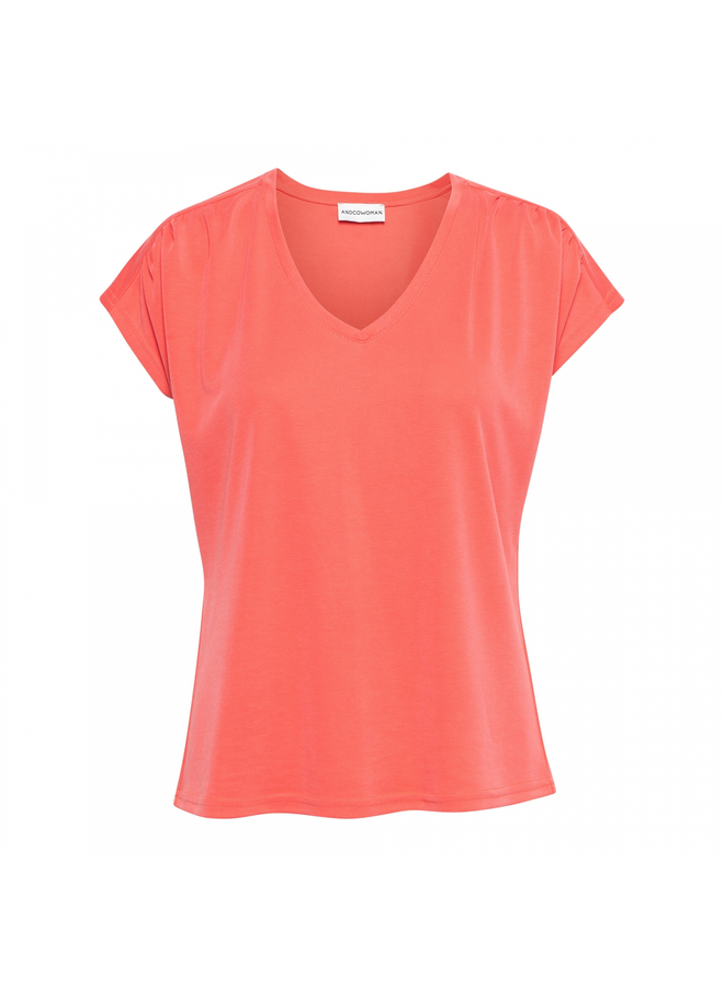 T-shirt 14SS-TO137-FS Mette Top - Flamingo