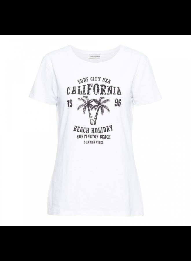 T-shirt 14SS-TS105-R Sommer - White