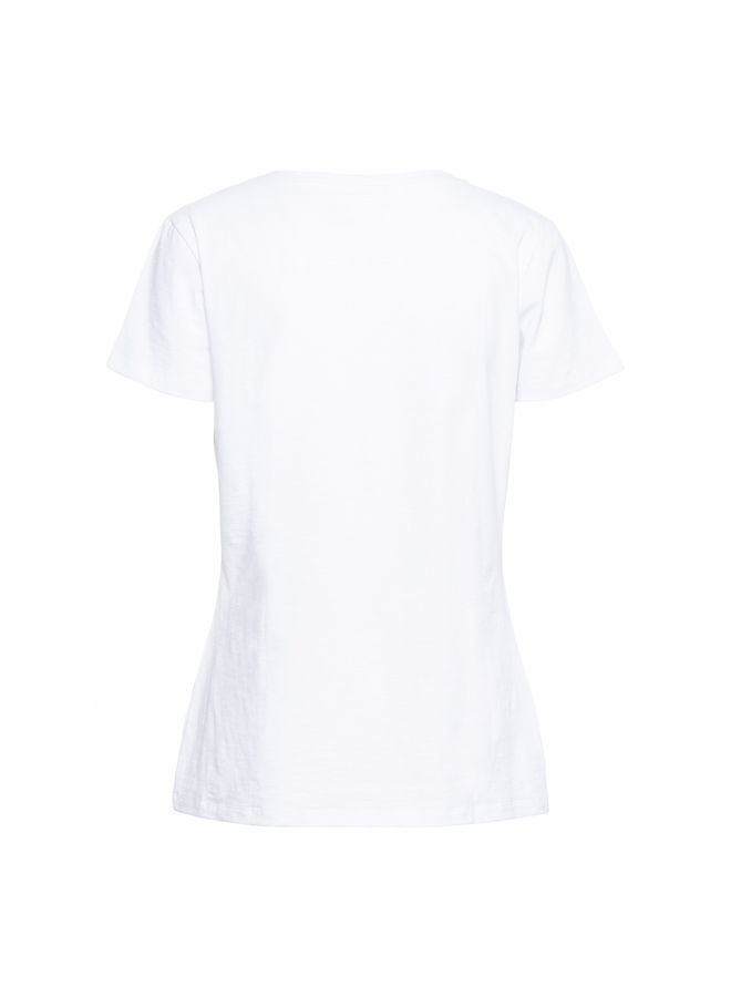 &Co Woman T-shirt 14SS-TS105-R Sommer - White