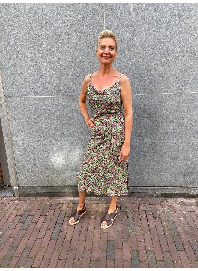 Ambika Loselotte Jurk Lang - Green Flower