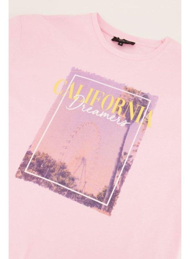 My Jewellery T-Shirt California Print - Roze