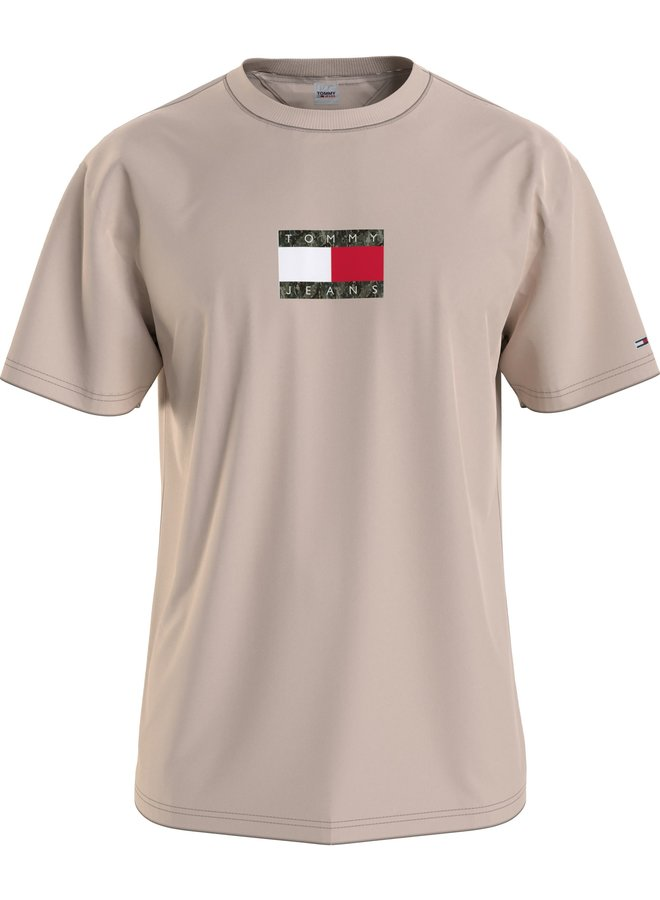 Tommy Jeans T-shirt DM0DM10950 - ABI Smooth Stone