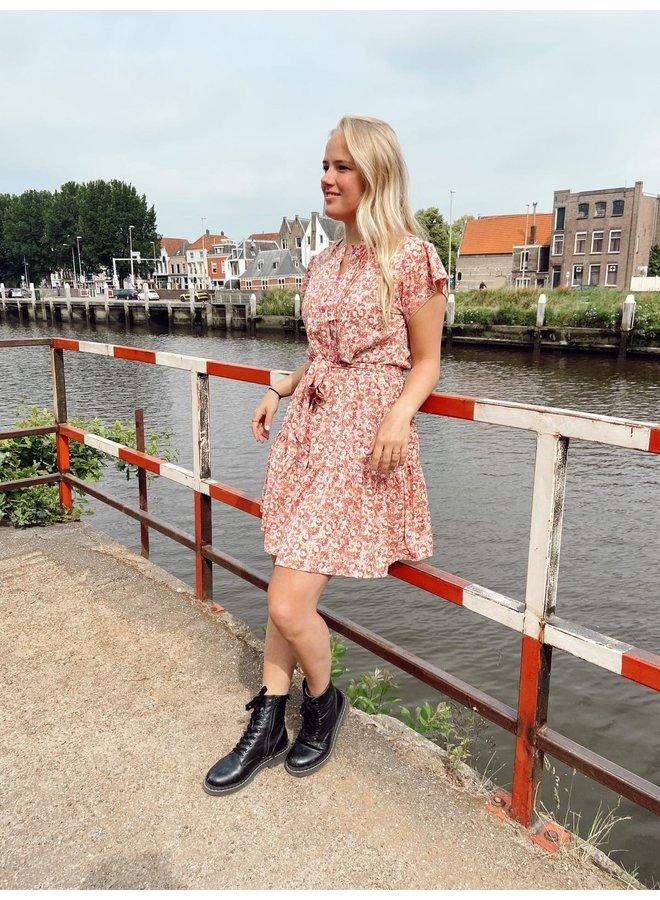 Greenfield Fashion Jurk  A-9525-1 Jurk - Roze