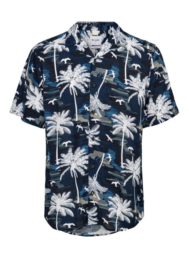 Only & Sons Overhemd Korte Mouw 22019157 - Blauw