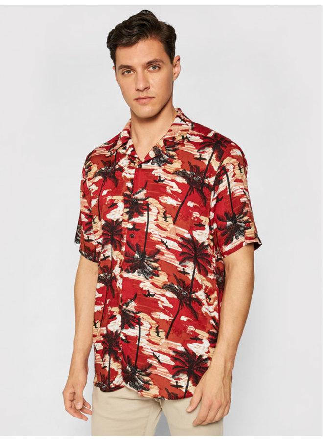 Overhemd Korte Mouw 22019157 - Rood